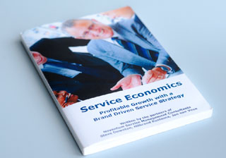 Gives examples of case studies and of companies that have been very successful in the service business